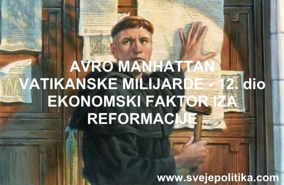 EKONOMSKI FAKTOR IZA REFORMACIJE